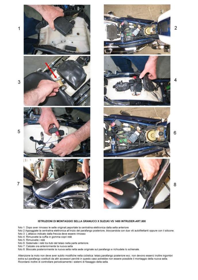 manual 800 suzuki intruder 1400 vs motorcycle seats. Black Bedroom Furniture Sets. Home Design Ideas